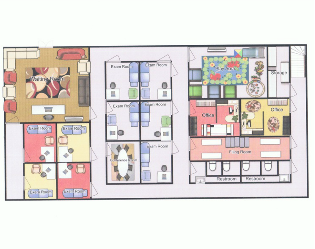 Floor plan of office pb j pediatricians for Room planning website